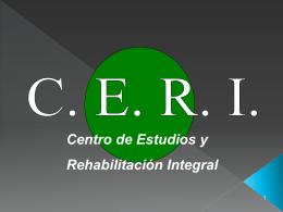 Diapositiva 1 - CERI - Centro de Estudios y