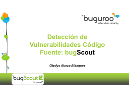 buguroo | bugScout: offensive security