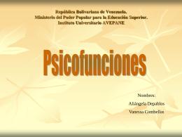 Psicofunciones - didacticadiferencialI