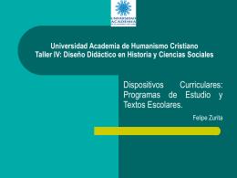 Universidad Academia de Humanismo Cristiano Taller IV