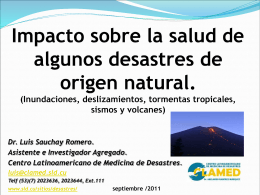 Impacto de desastres de origen natural sobre la salud.