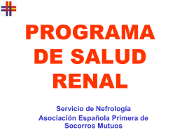 PROGRAMA DE SALUD RENAL