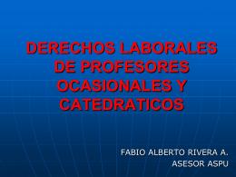 DERECHOS LABORALES DE PROFESORES OCASIONALES …