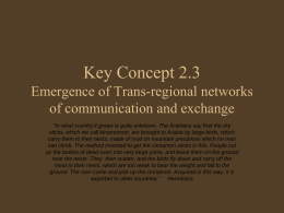 Key Concept 2.3 Emergence of Trans