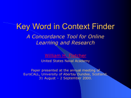 Key Word in Context Finder: A Concordance Tool for …