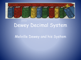 Dewey Decimal System - University of West Georgia