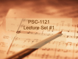 PSC-1121 Lecture Set #1