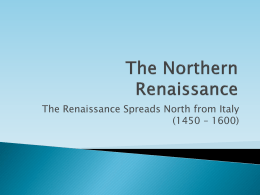 The Northern Renaissance - Montgomery County Schools