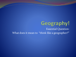 Geography! - Wikispaces
