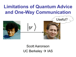 Limitations of Quantum Advice and One