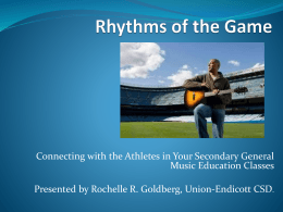Rhythms of the Game - Salt Lake City School District