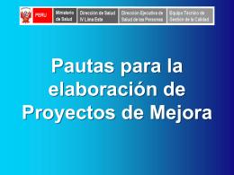 PROYECTOS DE MEJORA CONTINUA