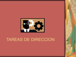 TAREAS DE DIRECCION