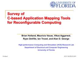 Survey of C-based Application Mapping Tools for