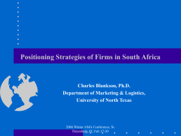 An Exploratory Study of Positioning Strategies Employed …