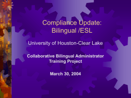 Compliance Update: 2003-04 and Beyond (Performance …