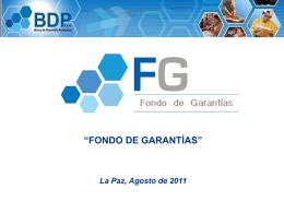 Diapositiva 1 - .::BDP::. Banco de Desarrollo Productivo