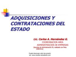 SISTEMA DE AQUISICIONES