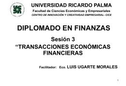 DIPLOMADO EN FINANZAS III