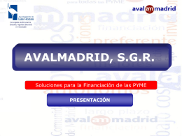 AVALMADRID, S.G.R. - Las Rozas de Madrid