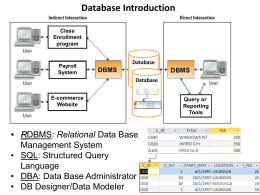 Data Modeling Case Study - California State University