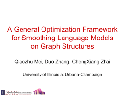A General Optimization Framework for Smoothing …