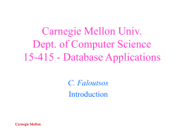 DB: Intro - Carnegie Mellon University