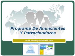 Programa De Anunciantes Y Patrocinadores