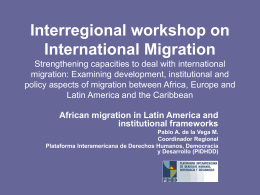 Interregional workshop on International Migration