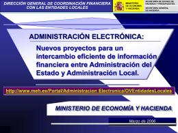 Proyectos 2006 - Inicio: Ministerio de Hacienda y