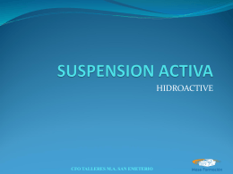 SUSPENSION HIDROACTIVE