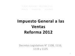 Codigo Tributario Reforma 2012