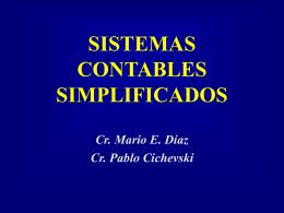 SISTEMAS CONTABLES SIMPLIFICADOS