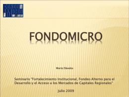 FONDOMICRO - Solidarios