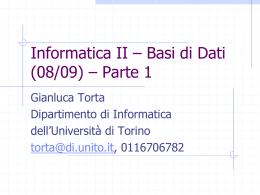 DML - Dipartimento di Informatica