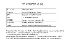 ISTRUZIONI SQL