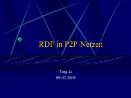 RDF in P2P