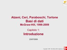 Atzeni, Ceri, Paraboschi, Torlone Basi di dati McGraw