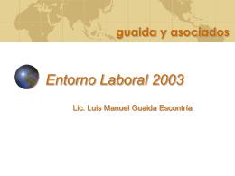 ENTORNO LABORAL 2003