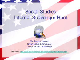 Social Studies Internet Scavenger Hunt