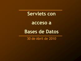 ServletsJDBC