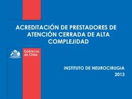 Evaluacion en el proceso de acreditacion del INCA