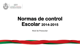 Normas de control Escolar 2014-2015