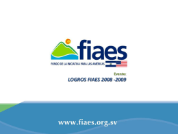 Diapositiva 1 - CFA | Environmental Funds Tool Kit
