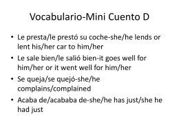 Vocabulario-Mini Cuento D