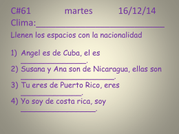 C#61 martes 16/12/14 Clima:__________________________