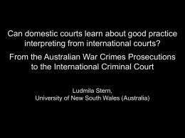 Can domestic courts learn about good practice …