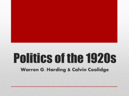Politics of the 1920s