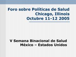 Foro Binacional de Politicas Publicas