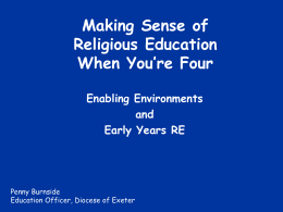 Making Sense of Religious Education When You're Four